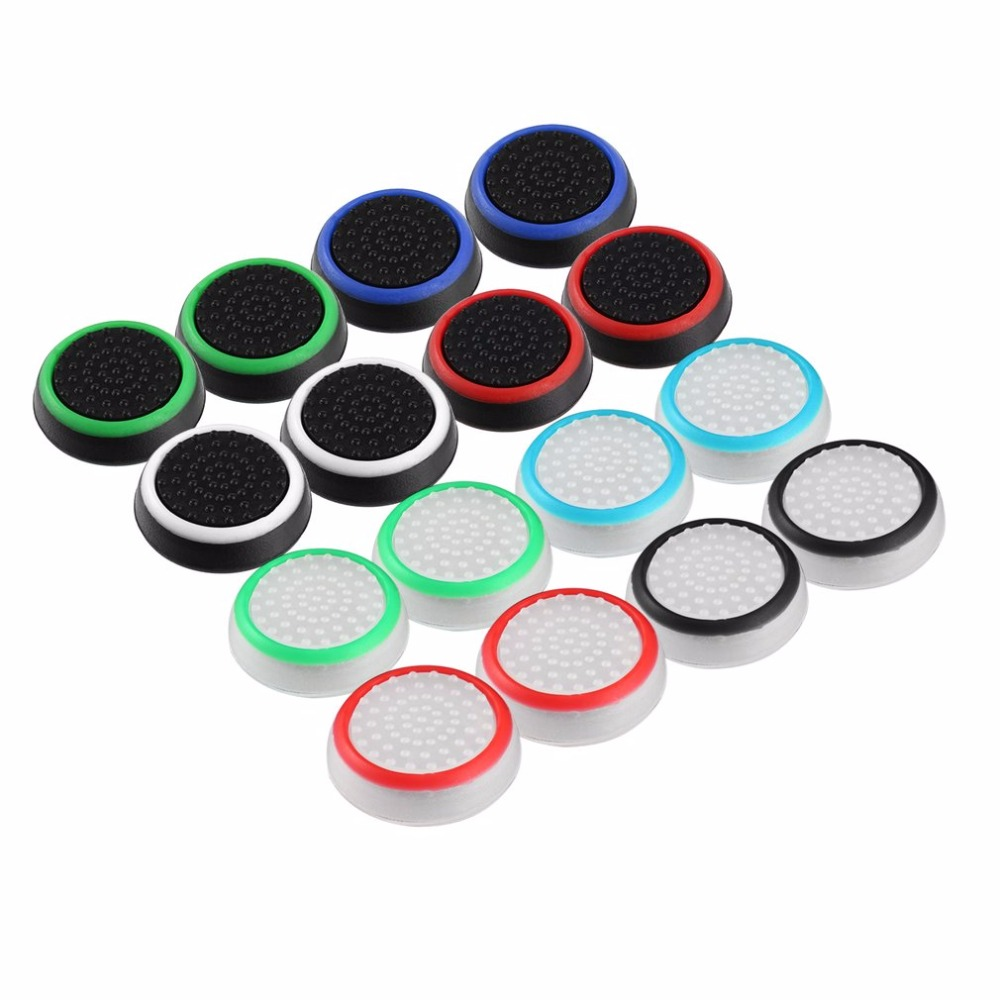 4pcs/lot Game Accessory Protect Cover Silicone Thumb Stick Grip Caps for PS4/3 for Xbox 360/for Xbox one Game Controllers Pakistan