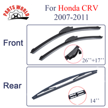 Partsworld Front And Rear Wiper Blades For Honda CRV 2007-2011 Nature Rubber Windscreen Auto Windshield Car Accessories Brushes