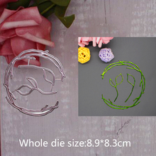 8.9*8.3cm heart grass circle 2019 new metal steel cutting dies for DIY Scrapbooking stitch Album Paper Card Craft Embossing