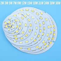 Venta al por mayor SMD5730 PCB LED 2W 3W 5W 7W 9W 12W 15W 18W 21W 30W 36W blanco/blanco Natural/blanco cálido de la fuente de luz de la bombilla Led