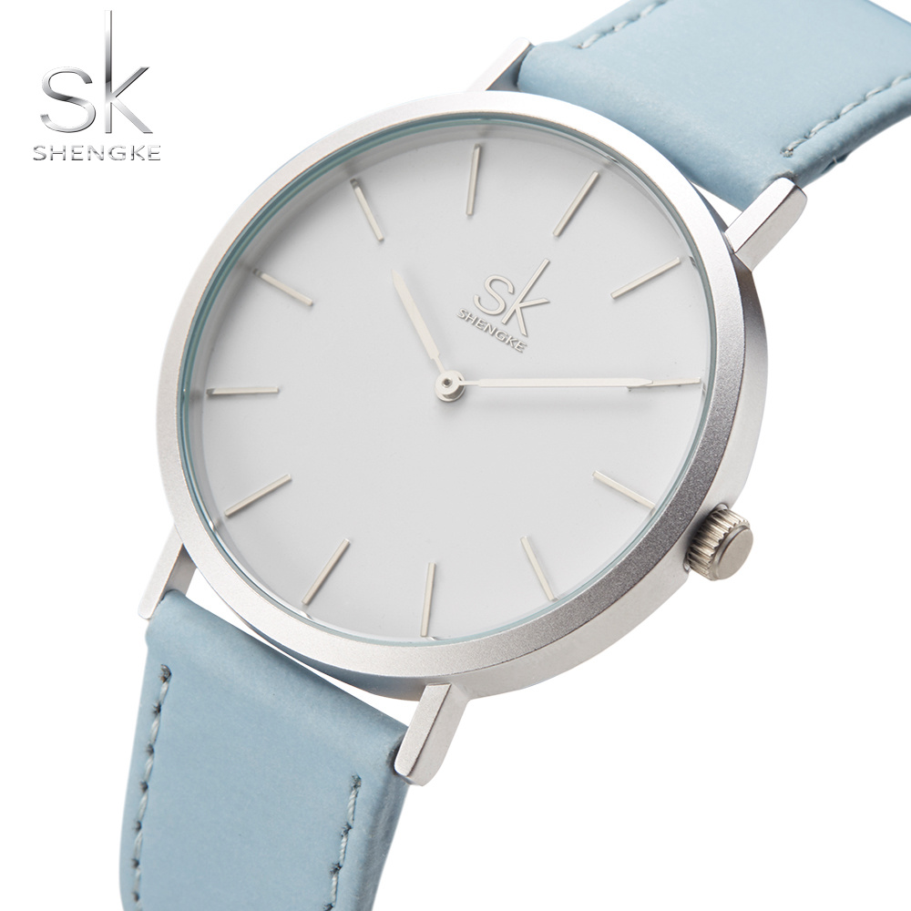 Shengke Brand New Fashion Watches Top Famous Luxury Brand Quartz Watch Women Watches Reloj Mujer Hot Clock Leather Watches SK longbo luxury brand fashion quartz watch blue leather strap women wrist watches famous female hodinky clock reloj mujer gift
