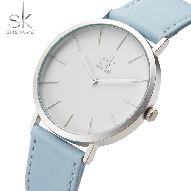 83eff52f445 Shengke Marca Nova Moda Relógios Top Marca de Luxo Famosos Relógios De  Couro Relógio Relógio De