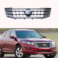 1Pcs Front Bumper Grille Grill Upper ABS Chrome For Honda Accord Crosstour 2010