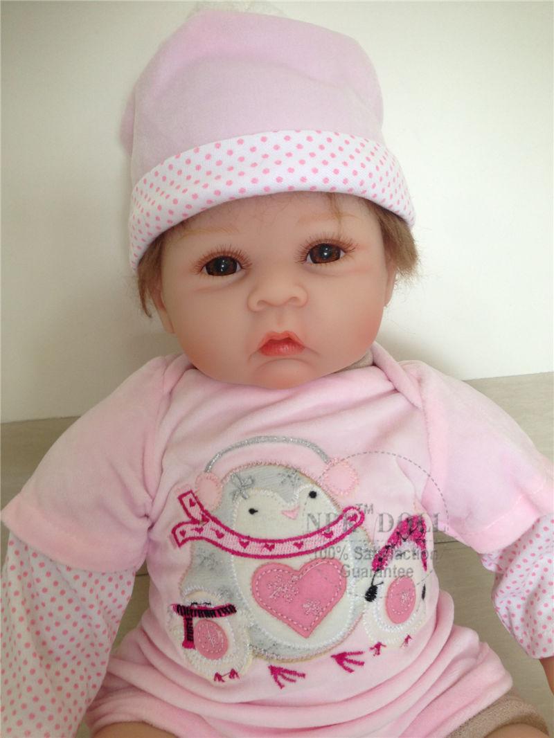 Dress In Soft Rompes Newborn Realistic Bebe Reborn Dolls NPK Brand 55cm 22inch Silicone Vinyl Bonecas