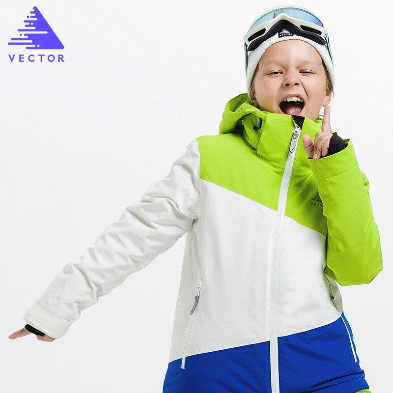 Garçons vêtements d'hiver veste de ski veste de neige-20-30 degrés enfants coupe-vent imperméable chaud garçon ski snowboard veste