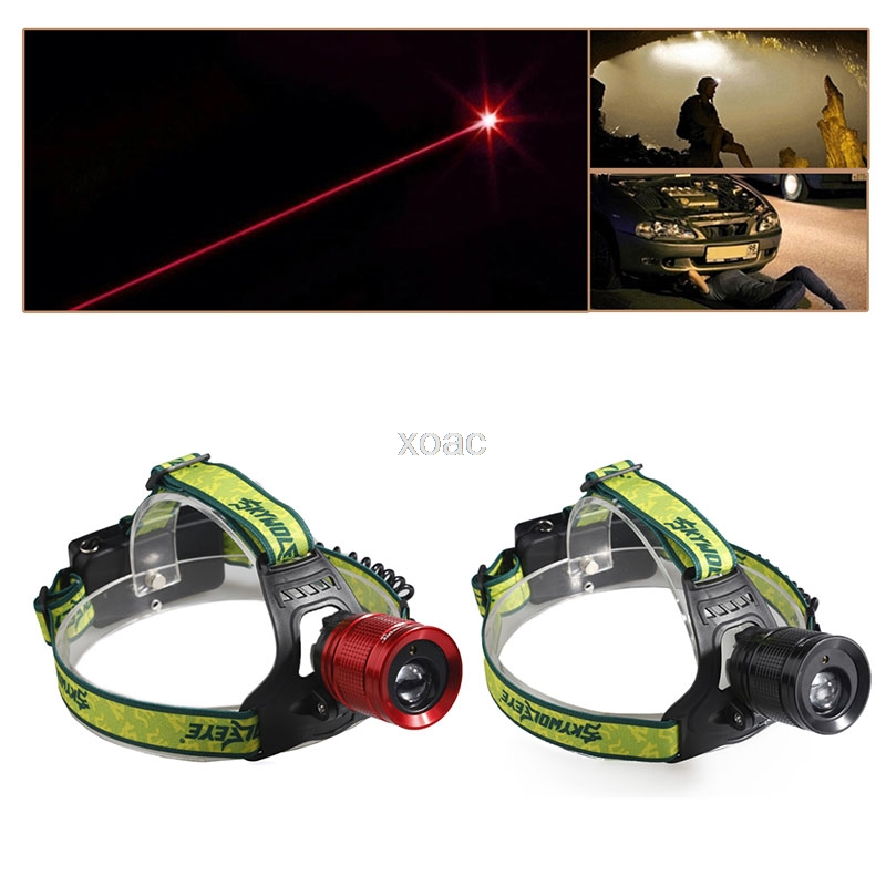 Купить с кэшбэком Hot 2000LM Red Laser LED Headlamp Waterproof Head Flashlight Headlight Camping   M08 dropship