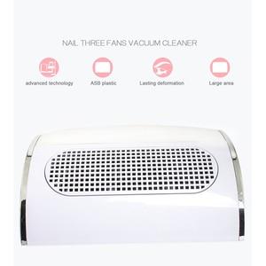 Image 2 - 3 wentylatory potężny zasysający pochłaniacz pyłu do paznokci duży rozmiar niski poziom hałasu odkurzacz do paznokci Manicure narzędzie jak z salonu 2 woreczek pyłowy