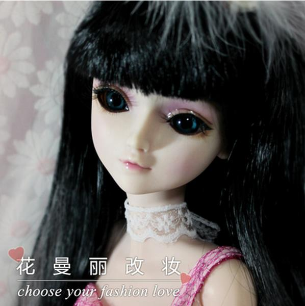 FULL SET Top quality 60cm bjd 1/3 girl doll wig clothes shoes all included!night lolita reborn baby doll best huaman gifts toy mcoser 70cm 60cm long pink and blue mixed beautiful lolita wig anime wig