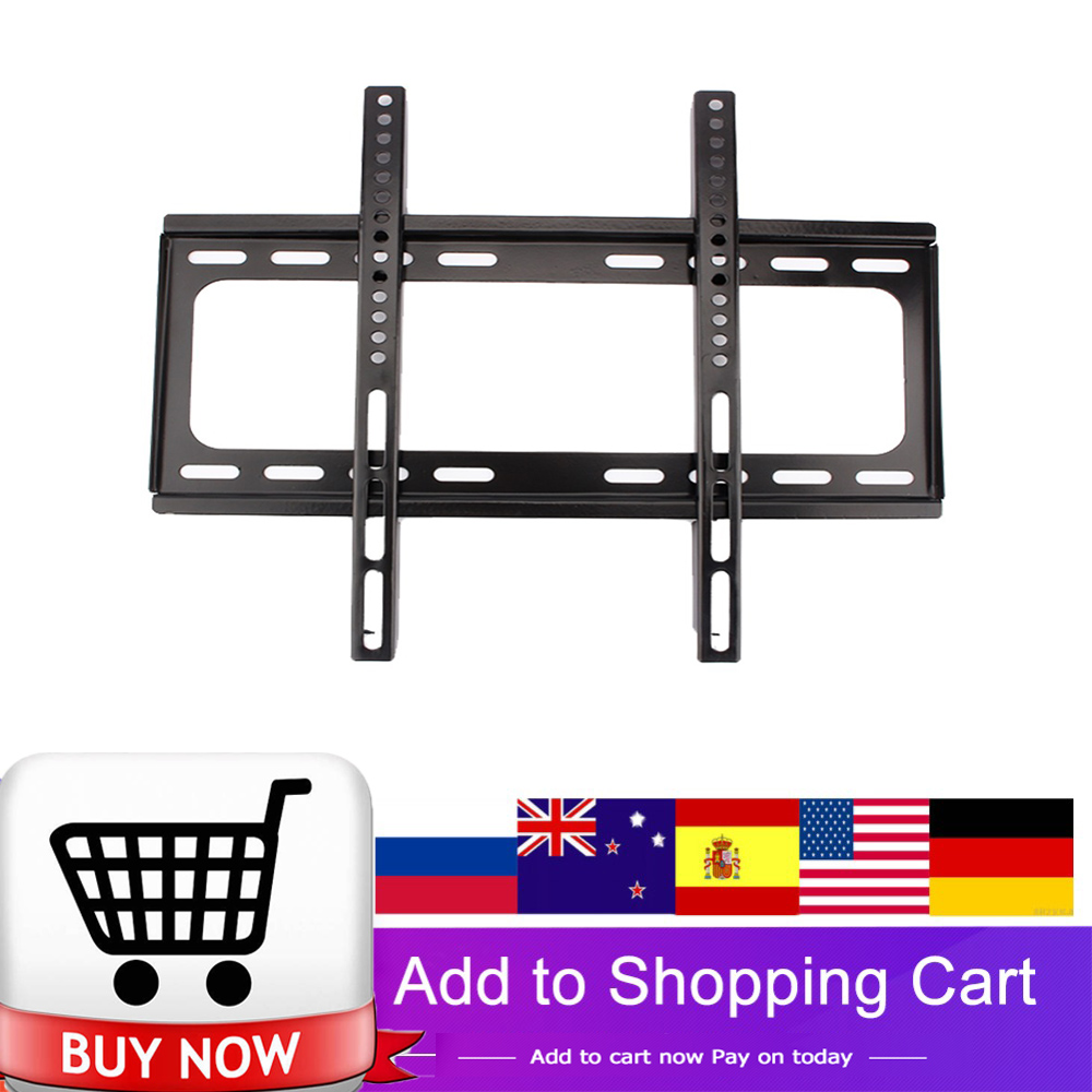 Universal 45KG Metal TV Wall Mount Bracket Fixed Flat Panel TV Stand Holder Frame for 26-55 Inch Plasma TV HDTV LCD LED Monitor