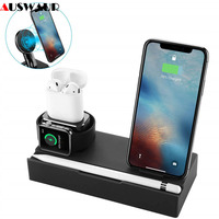 8 In 1 Mobile Phone Tablet Stand Holder Wireless Charger Dock for iPhone iPad Airpods iWatch Charge BaseDock Station Storage