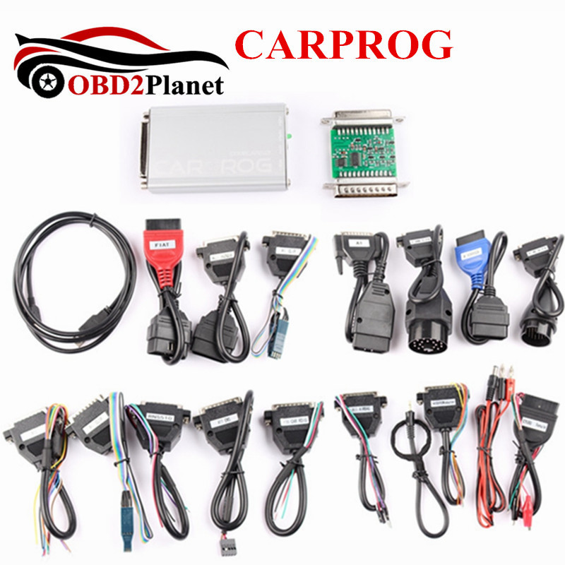Новое поступление 2017 года CARPROG Полный v10.05 автомобиль прог программист для ремонта Инструменты 21 Полный Адаптеры для сим-карт или основной б...