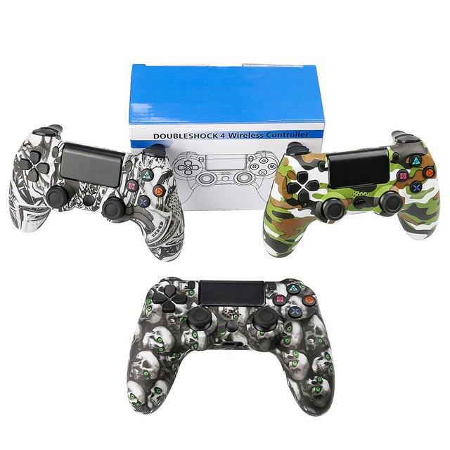 Bluetooth ワイヤレス/USB 有線 PS4 コントローラ用フィットプレイステーション 4 コンソールデュアル 4 用 PS3 コンソール