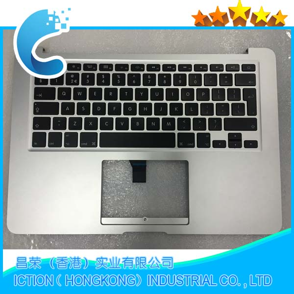 Genuine New Topcase For Macbook Air 13.3 '' A1466 Palmrest Top case With US keyboard 2013 2014 2015 Years genuine new 593 1604 b 923 0441 for macbook air 13 inch a1466 trackpad touchpad ribbon flex cable 2013 2014 2015 year
