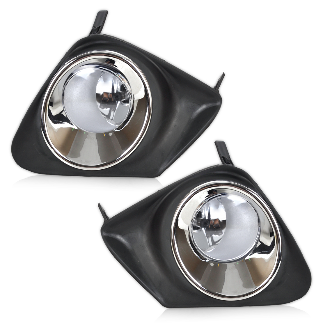 CITALL 4pcs Front Bumper Left Right Fog Light Lamp + Black Grille - Car Lights