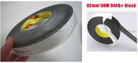 1x 62mm*50M 3M 9448 Black Two Sided Tape for LED LCD /Touch Screen /Display /Pannel /Housing /Case Repair Black