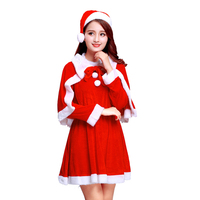 Kids Clothes Girls 2 To 6 8 10 12 14 15Years Children Santa Claus Costume Red