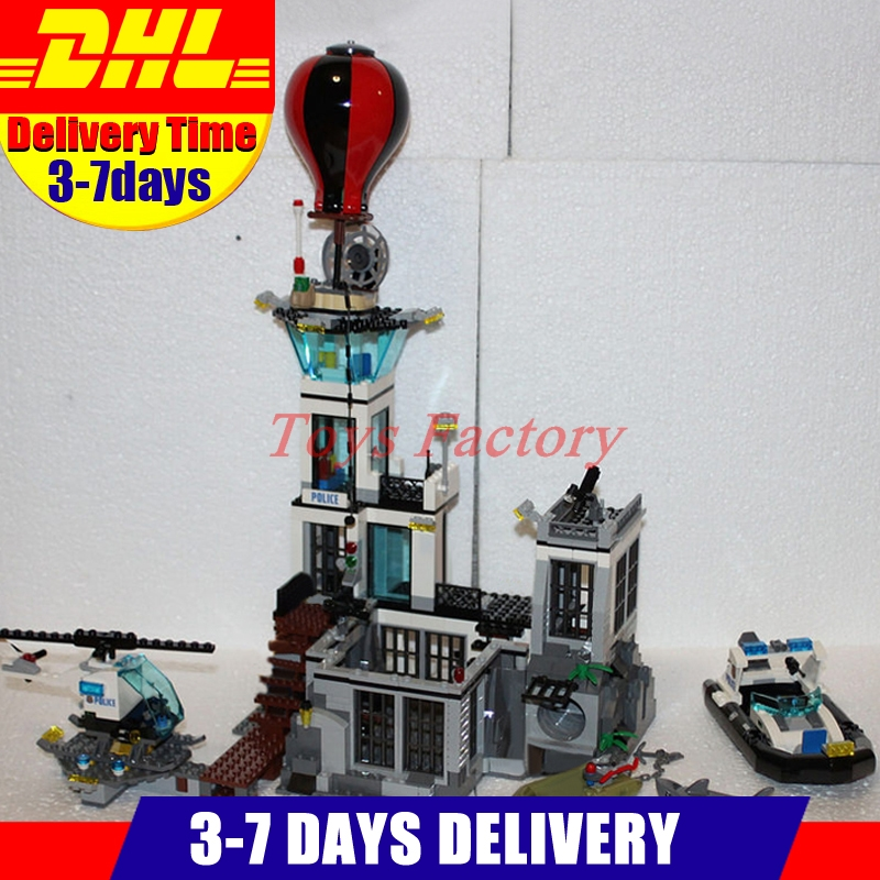 IN Stock DHL LEPIN 02006 815 PCS City Police Prison Island 60130 Construction Toy Set Model Building Kits Blocks Girl Gift lepin 02006 815pcs city series police sea prison island model building blocks bricks toys for children gift 60130