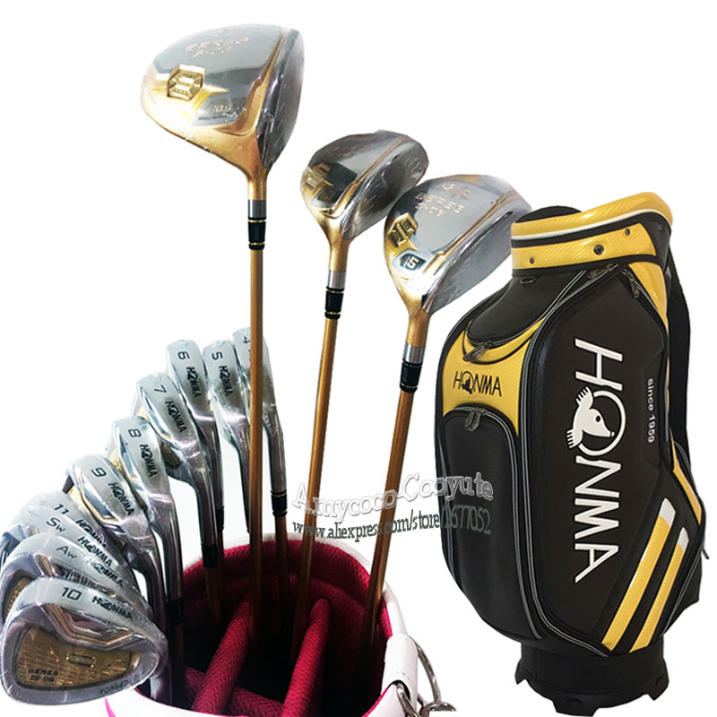 New Golf Clubs Honma S 06 Club Complete Set Honma Golf Driver Wood Irons Graphite Or Steel Golf Shaft And Bag Free Shipping