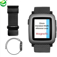zycestyle 22mm Magnetic Milanese Loop Metal Band For Huami Amazfit Watch Asus Zenwatch 2 Pebble Time Steel Gear 2 GWatch Moto360