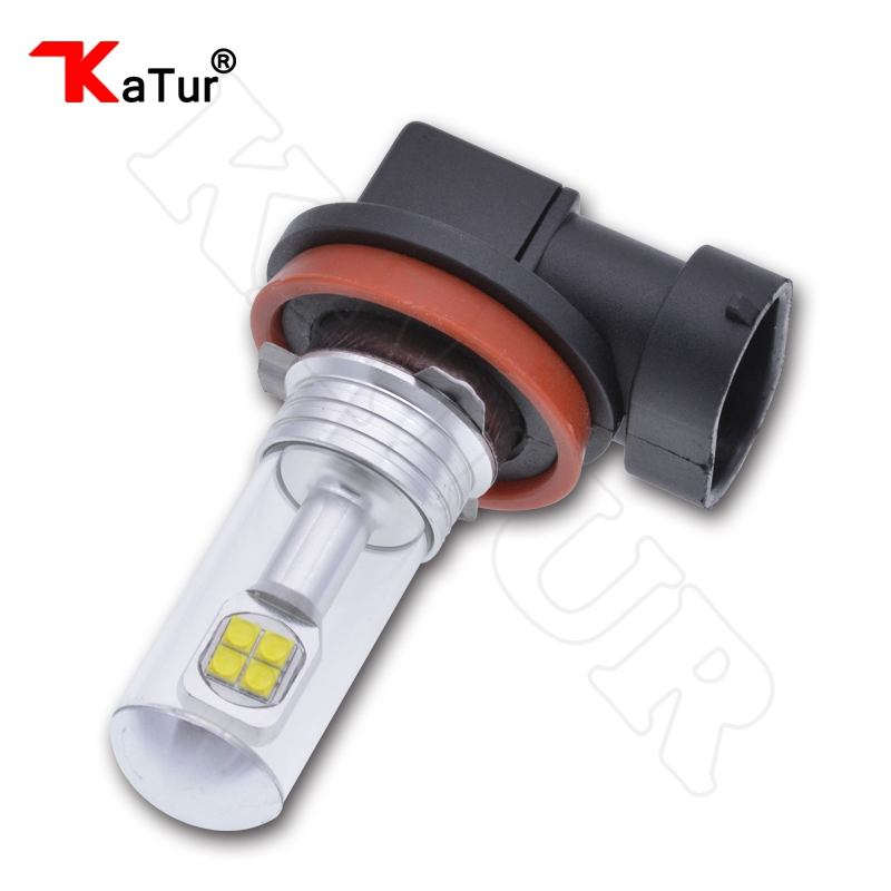 1 Piece 1500 Lumens CREELED 40w H11 H9 H8 LED Car Fog Light DRL Bulbs Day Running Light White Waterproof IP68