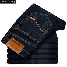 جينز أسود جديد للرجال ماركة Brother Wang 2020 ، موضة الأعمال ، تصميم كلاسيكي ، بنطال ضيق مرن ، جينز للرجال 108