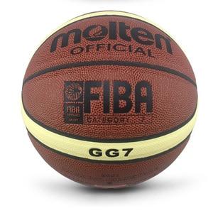 Image 4 - 2018 חדש מגיע חיצוני מקורה גודל 7/6/5 עור מפוצל כדורסל כדור אימון כדור סל כדורסל נטו + כדור מחט basketbol