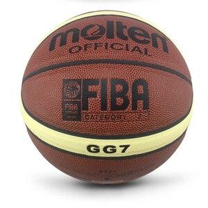 Image 4 - 2018 Mới Đến Ngoài Trời Trong Nhà Size 7/6/5 Da PU Bóng Rổ Bóng Huấn Luyện Rổ Bóng Lưới Bóng Rổ + Bóng kim Basketbol