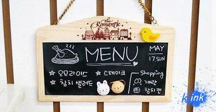 Leave a message? Mini Wall-mount chalkboard , Wooden magnetic chalkboard with both blackboard and whiteboard