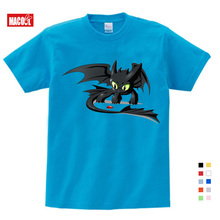 Fashion Toothless T-shirt Men Cute Tops How To Train Your Dragon Cartoon Tees T Shirt Summer Clothes Cotton Tshirt