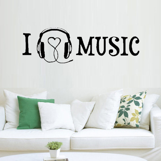 Musical Vinyl Wall Art Home Decor Melody Wall Mural Quotes And