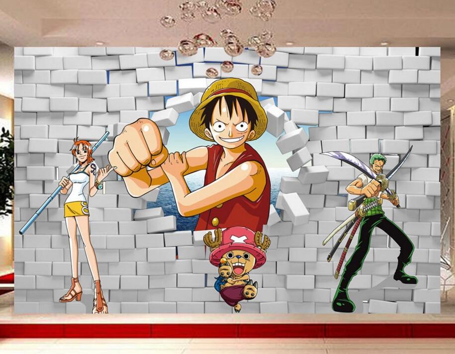 Kustom Anak Wallpaper One Piece Luffy Poqiang 3d Kartun Mural Untuk Anak Room Bedroom Latar Belakang Papel De Parede Wallpaper Abstrak Wallpaper Muralwallpaper Gadis Aliexpress