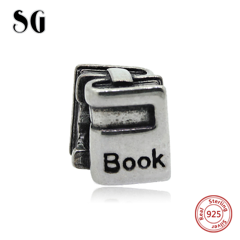 925 Original pandora Charm Bracelet Antique Beads Fit Authentic Silver pandora Bracelet book for student Jewelry Birthday Gift