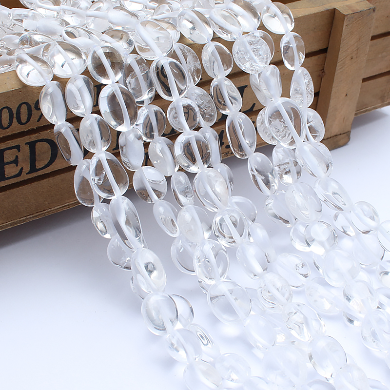 Natural Stone Beads 8-10mm Irregular Clear Quartz Crystal Stone Beads For Jewelry Making Bracelet Necklace 15inches