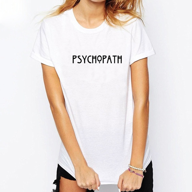 PSYCHOPATH T-Shirt American Horror Story Tee Unisex PSYCHO T Shirt Fashion  Casual Cotton Funny