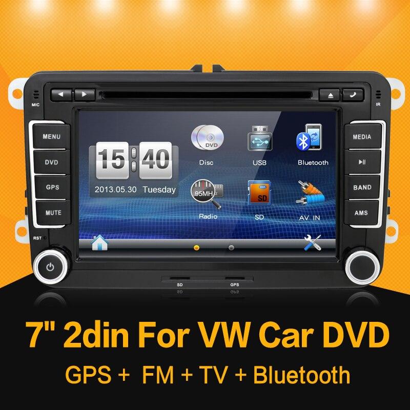 Lecteur dvd de voiture 2 DIN 7 ''pour VW GOLF JETTA POLO TOURAM PASSAT B6 avec écran tactile GPS, commande au volant, stéréo, radio, usb - 2