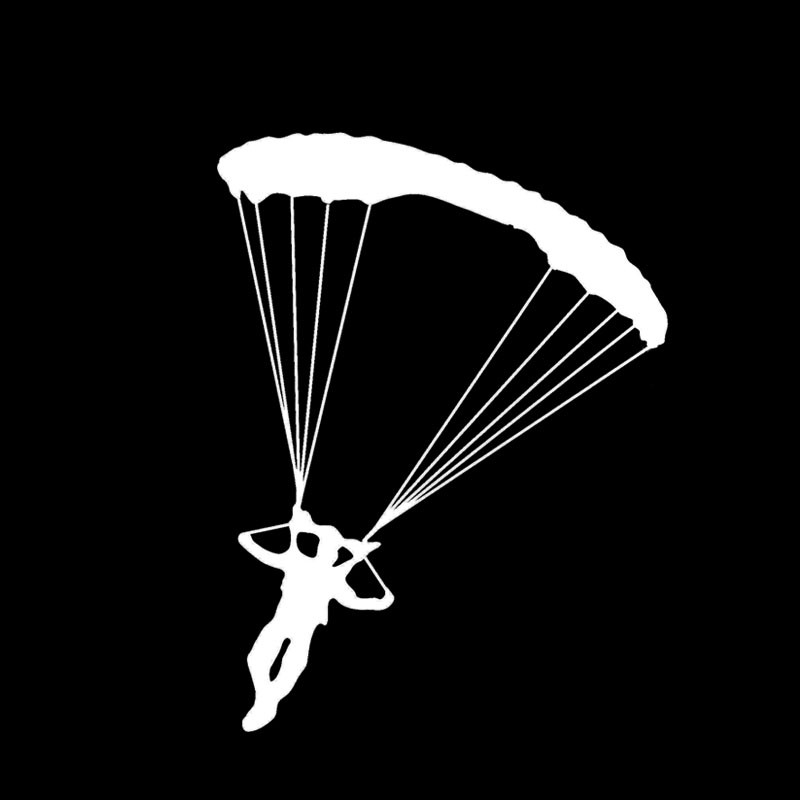 Skydiving Parachute Sticker Decal Wall Art Car Ute Aircraft Vinyl Decal window