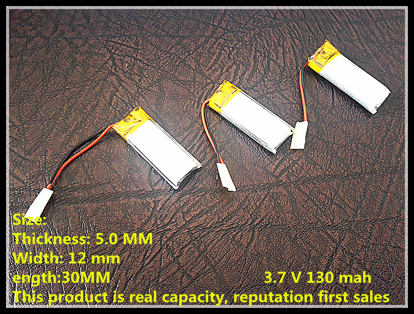 Polymer battery 501230 130 mA lithium batteries of high-end Bluetooth headset products factory direct A factory wholesale model 855590 high capacity lithium polymer battery 4500mah 3 7v