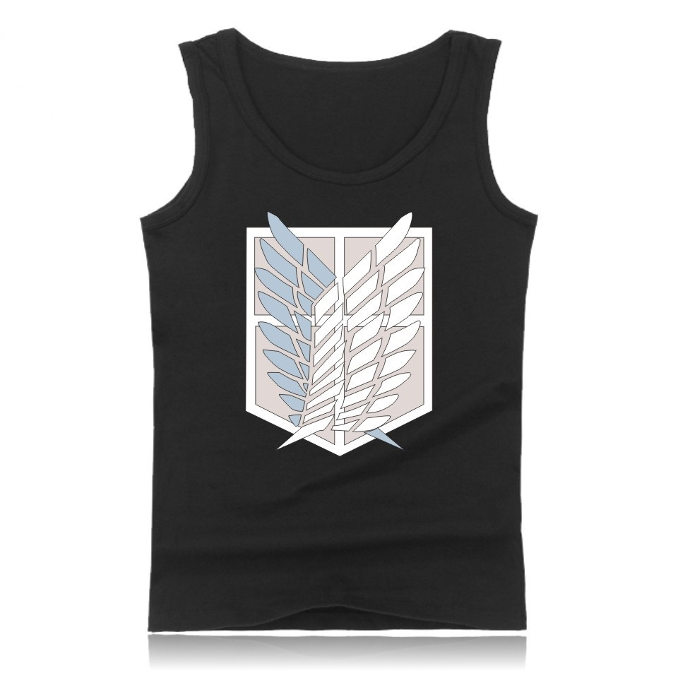Attack On Titans   Tank     Top   Men Sleeveless Summer Bodybuilding   Tank     Top   Japan Popular Anime Attack On Titan Casual Vest