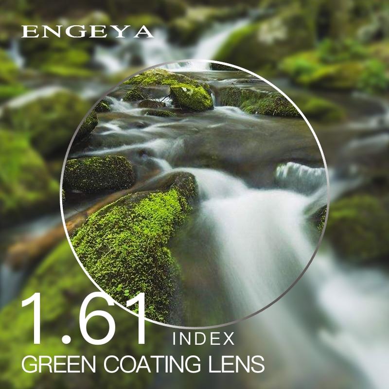 Herren-brillen 1,61 Index Rezept Linsen Harz Asphärische Gläser Linsen Für Myopie Hyperopie Presbyopie Brillen Objektiv Mit Grün Beschichtung Accessoires