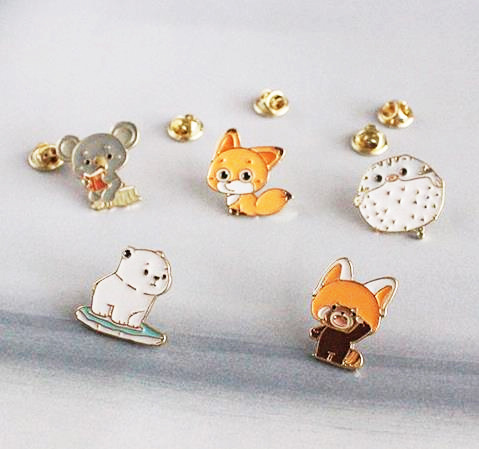 Free Shipping 10 Pcs/lot Fashion Jewelry Accessories Fox Raccoon Koala Fugu  Polar Bear Brooch Badge Enamel Pin In Brooches From Jewelry U0026 Accessories  On ...