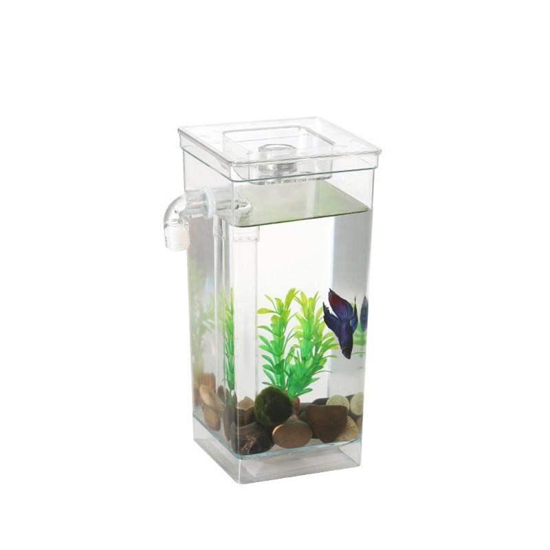 Lucu Diri Pembersih Akuarium Ikan Bowl Dengan Led Bercahaya Dekoratif Desktop Akuarium Mini Ikan Cupang Inkubator Bowl Anak Hadiah Akuarium Tanks Aliexpress