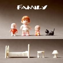 mini figure Doll model toy family Toys 7pcs/set