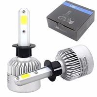 1 Pair H13 9008 H1 H3 9004 HB1 9007 LED Headlight Conversion Kit 72w 6500K Cool
