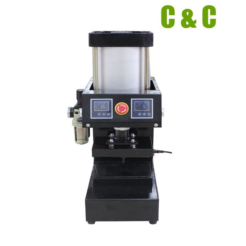 Rosin Heat Press 12cm x 12cm ( 4.7 x 4.7 ) 10000 PSI High Pressure Two Station Pneumatic Auto Rosin Press Machine NO.LCB1015-5