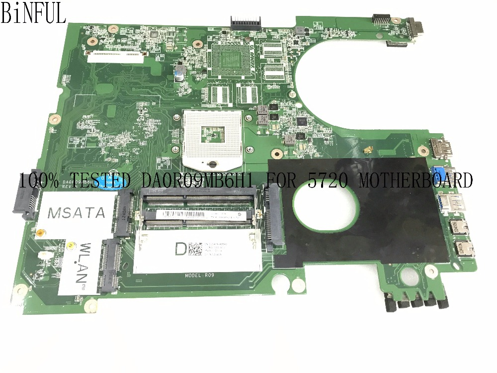 BiNFUL SUPER QUALITY DA0R09MB6H1 REV : H MAINBOARD MOTHERBOARD FOR DELL INSPIRON 5720 NOTEBOOK COMPARE BEFORE ORDER