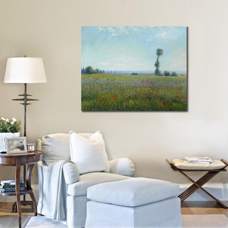 Claude Monet paintings on Canvas The Fields of Poppies hand-painted wall art decor High quality