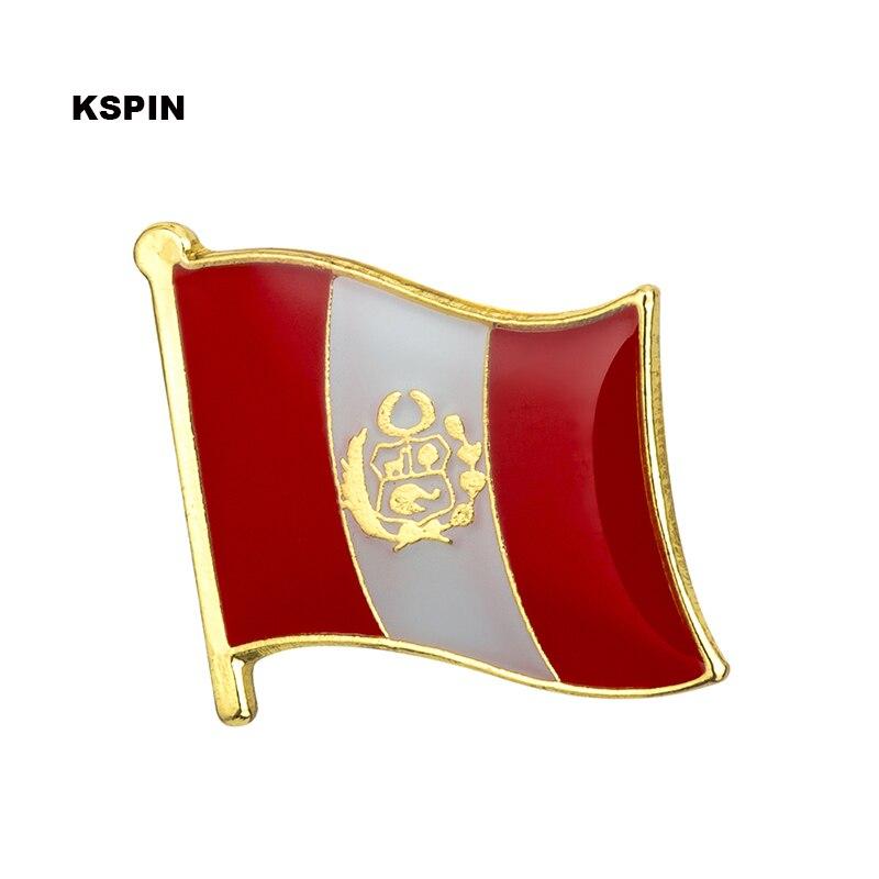 웃 유Nuevo Perú bandera insignia pin de solapa 100 piezas mucho ...