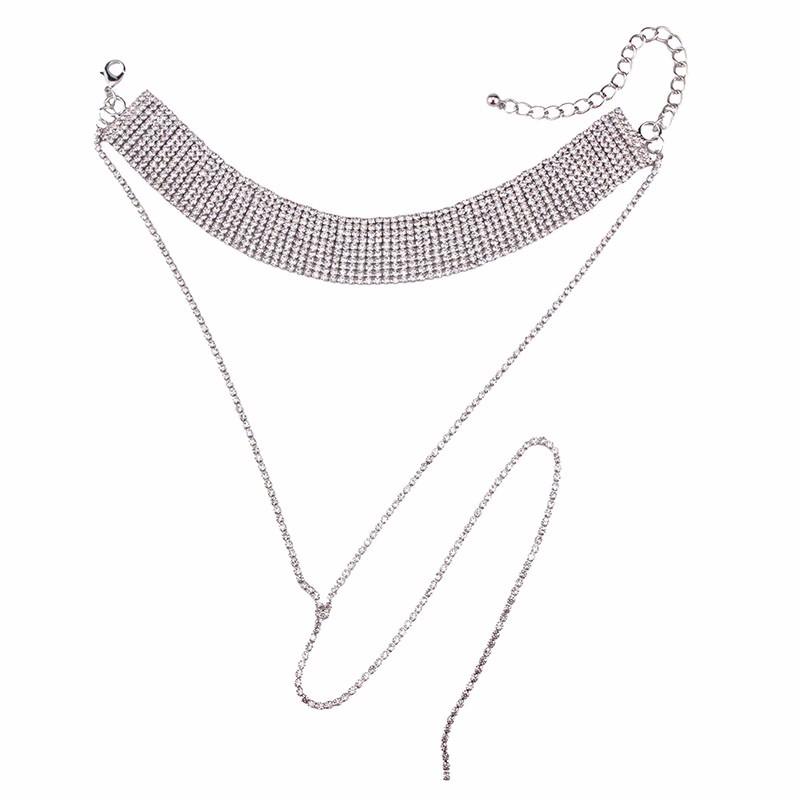HTB1rA2iOpXXXXaCapXXq6xXFXXXC Crystal Rhinestone Choker Necklace – Various Styles