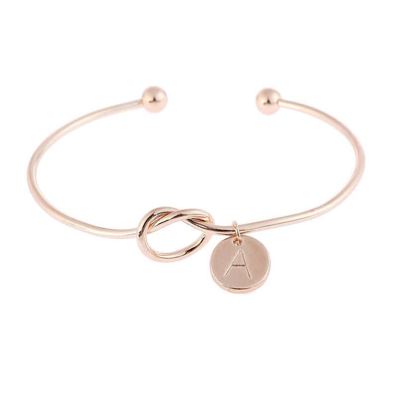 A-Z, 26 букв, узел, начальные браслеты, браслеты, начальный Шарм, браслет для девушек, любовь, браслет на заказ для женщин, ювелирные изделия, Pulseiras