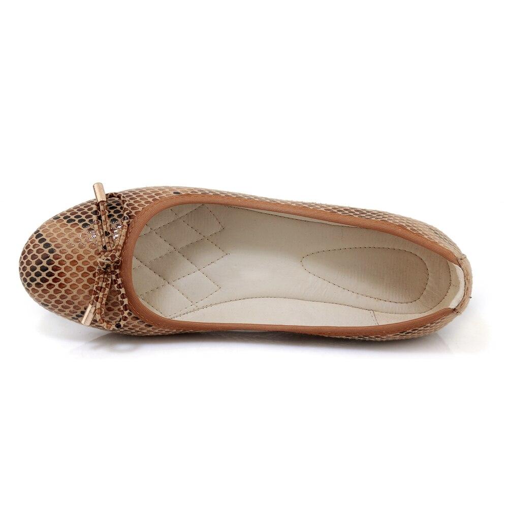 2018 Noeud Papillon Apricot Style brown Serpentine Office Arden Coins Appartements Femmes Pour Chaussures Ballet pink Lady De Furtado Mode Nouveau Femme Pliable Color w8n5Cznq